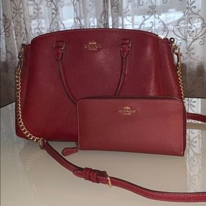 Coach - Purse and Wallet Set - Red